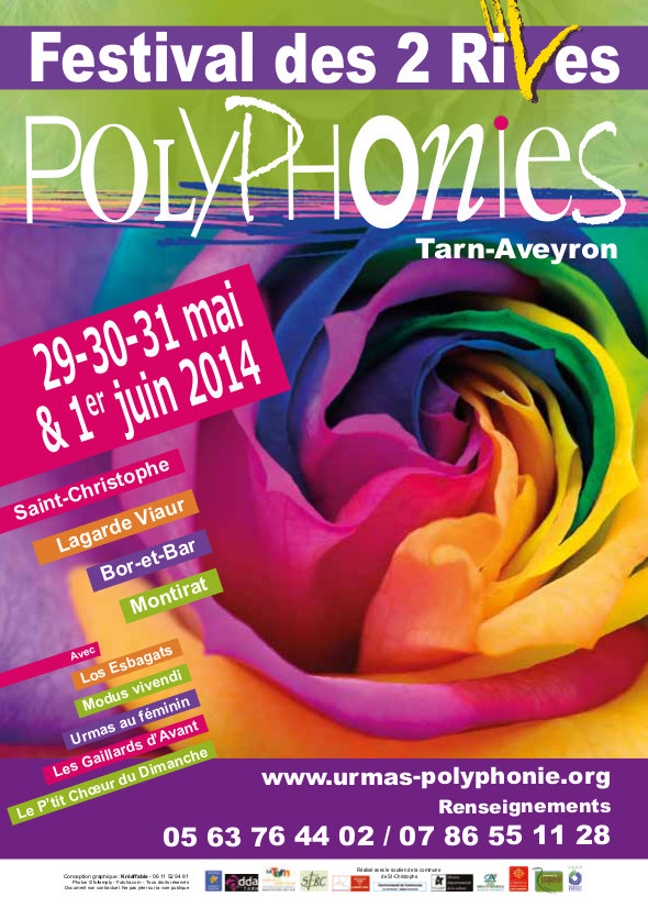Festival des 2 rives - Polyphonies Printemps 2014